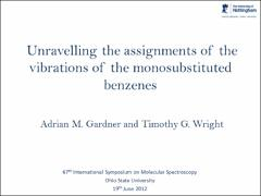 Thumbnail of CONSISTENT ASSIGNMENTS OF THE VIBRATIONS OF SUBSTITUTED BENZENES