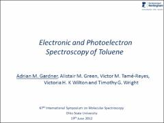 Thumbnail of ELECTRONIC AND PHOTOELECTRON SPECTROSCOPY OF TOLUENE