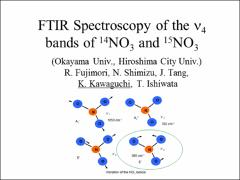 Thumbnail of FTIR SPECTROSCOPY OF THE $\nu_4$ BANDS OF $^{14}$NO$_3$ and $^{15}$NO$_3$