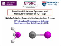 Thumbnail of MICROWAVE SPECTRUM AND GEOMETRY OF H$_{3}$P$\cdots$AgI