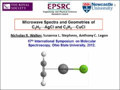 Thumbnail of MICROWAVE SPECTRA AND GEOMETRIES OF H$_{2}$C$_{2}$$\cdots$AgCl AND H$_{2}$C$_{2}$$\cdots$CuCl