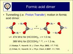 Thumbnail of MICROWAVE SPECTROSCOPY AND PROTON TRANSFER DYNAMICS IN THE FORMIC ACID-ACETIC ACID DIMER