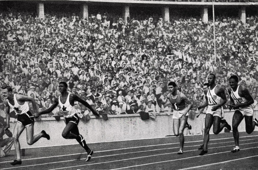 jesse owens 1936 olympics relay
