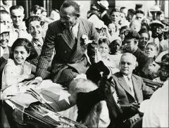 Thumbnail of Jesse Owens and Mayor Harold Borton in the Cleveland ticker tape parade, 1936