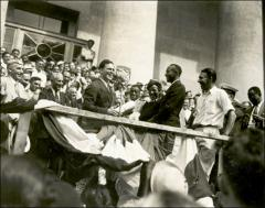 Thumbnail of Jesse and Ruth Owens during a reception in Columbus, 1936