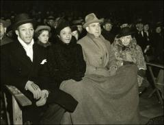 Thumbnail of Jesse and Ruth Owens at Ohio State's Homecoming football game, 1936