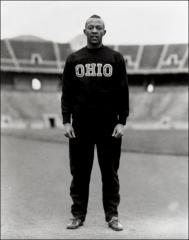 Thumbnail of Jesse Owens full-length track portrait, 1934