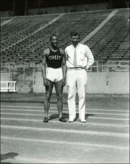 Thumbnail of Jesse Owens and Coach Larry Snyder posed for a portrait, 1935