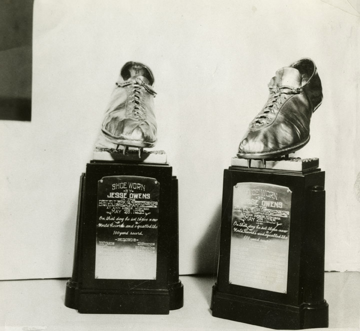Shoes worn by Jesse Owens at the Big