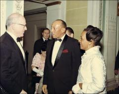 Thumbnail of Jesse and Ruth Owens speaking with Avery Brundage, 1960s