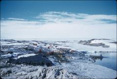 Thumbnail of View of McMurdo Sound, U.S. base on Ross Ice Shelf