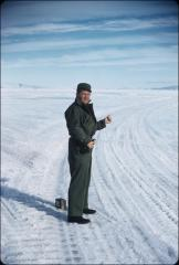 Thumbnail of William J. Cromie hitchhiking back to base