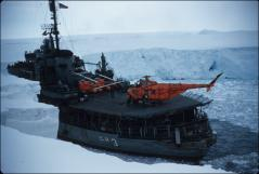 Thumbnail of Icebreaker USS Atka (AGB-3) with helicopter