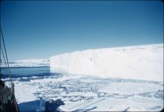 Thumbnail of Ship moored at ice shelf