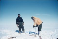 Thumbnail of Hugh Bennett (left) and Ed Robinson test ice