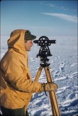 Thumbnail of William J. Cromie surveying Ross Ice Shelf near Little America