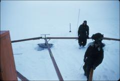 Thumbnail of Traverse crew checking crevasse detector
