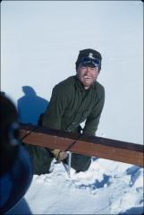 Thumbnail of William J. Cromie adjusting crevasse detector