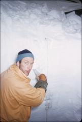 Thumbnail of Peter Schoeck sampling snow layers