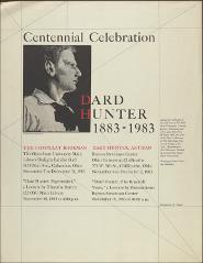 Thumbnail of Centennial Celebration: Dard Hunter 1883-1983
