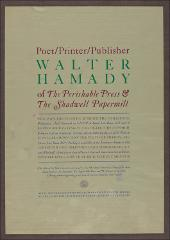 Thumbnail of Poet/Printer/Publisher Walter Hamady (Green)