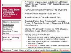 A Process Improvement Initiative in a Medical Faculty Group Practice