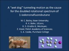 "Thumbnail of A ""WET DOG"" TUNNELING MOTION AS THE CAUSE FOR THE DOUBLED ROTATIONAL SPECTRUM OF 1-IODONONAFLUOROBUTANE"