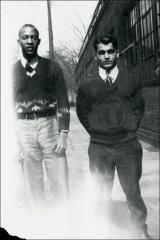 Thumbnail of Jesse Owens and an unknown man, circa 1930s