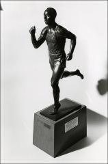 Thumbnail of Jesse Owens statue donated by The Ohio State University Philadelphia Alumni Club, taken 1980