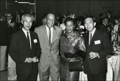 Thumbnail of Jesse and Ruth Owens pose with Seiko employees, Japan, 1964