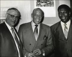 Thumbnail of Jesse Owens with Woody Hayes and Robert Dorsey, 1970
