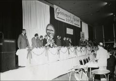 Thumbnail of Jesse Owens on stage at the Governor's Award Ceremony, 1976