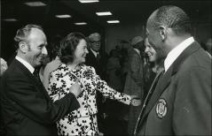 Thumbnail of Jesse Owens meets people at an event, 1972