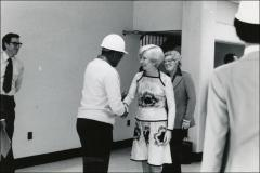 Thumbnail of Jesse Owens meets an unidentified woman at the ARCO factory, 1978