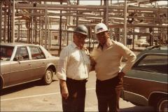 Thumbnail of Jesse Owens poses for a photo with an ARCO factory worker, 1978