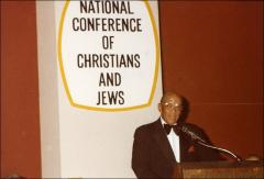 Thumbnail of Jesse Owens speaks at the National Conference of Christians and Jews, 1970s