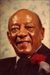 Thumbnail of Close-up portrait of Jesse Owens, 1970s