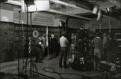 "Thumbnail of Crew and actors prepare for ""The Jesse Owens Story"" in Pomerene Hall, 1984"