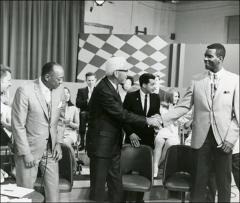 Thumbnail of Jesse Owens, Larry Snyder, and Jimmy Franck on Gene Fullen's television show, 1968