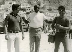 Thumbnail of Jesse Owens meets two men while visiting Greece, 1969