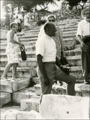 Thumbnail of Jesse Owens explores ancient ruins in Greece, 1969