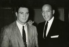 "Thumbnail of Howard ""Hopalong"" Cassady and Jesse Owens pose for a portrait, 1956"