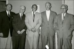 Thumbnail of Jesse Owens with members of the Kenosha, Wisconsin American Legion, 1954