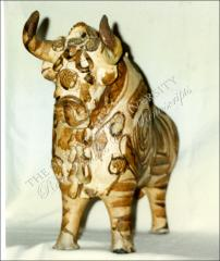 Thumbnail of Ceramic Bull of Pucara, Front View