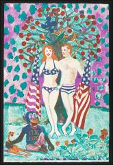 Thumbnail of Adam and Eve Celebrate the U.S. Bicentennial