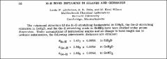 Thumbnail of M-H BOND DISTANCES IN SILANES AND GERMANES