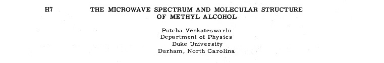 the microwave spectrum and molecular structure of methyl