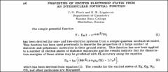 Thumbnail of PROPERTIES OF EXCITED ELECTRONIC STATES FROM AN INTERNUCLEAR POTENTIAL FUNCTION