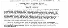 Thumbnail of ELECTRONIC AND VIBRATIONAL STATES OF AROMATIC MOLECULES