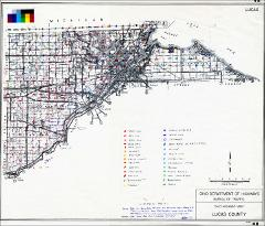Vegetation Survey Superimposed On Ohio Highway Map Of Lucas County